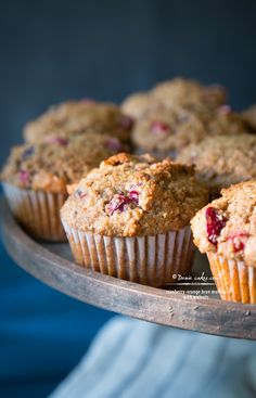 Cranberry-Orange Bran Muffins with Walnuts recipe (Or Raspberry-Orange, or Raspberry-Peach...)