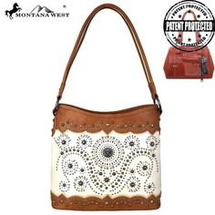MW678G-8317 Montana West Concho Collection Concealed Carry Tote+wallet set