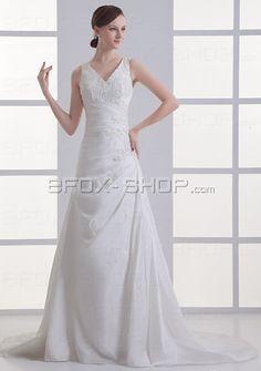 A-Form Hochzeitskleid Brautkleid mit Spitze
