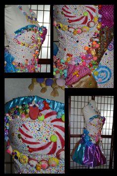 Custom Made Katy Perry California Gurls/Candyland Dress Katy Perry Halloween Costume, Halloween Costumes, Candyland, Fairy, Party Ideas, California, Sweet, Artwork, Dresses