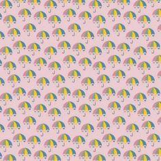 Kinderstoffen Katoen - Paraplu Roze