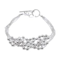"Beads Sterling Silver Plated Toggle Bracelet 7""-7.5"" SWEETIE 8. $10.17. Comes with Gift Box and Polishing Cloth. Trendy bracelets great for gifts. Save 59% Off!"