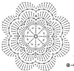 Миниатюрные цветы крючком