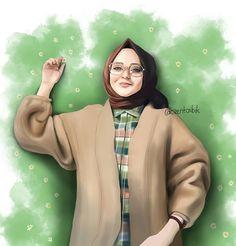 Cartoon Girl Images, Cartoon Pics, Girl Cartoon, Cartoon Art, Hijab Drawing, Islamic Cartoon, Anime Muslim, Hijab Cartoon, Girly Drawings
