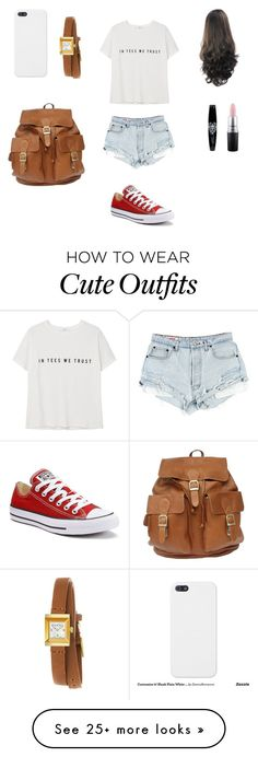 """Cute outfit"" by stuff4m on Polyvore featuring Converse, MANGO, MAC Cosmetics and Gucci"