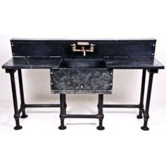 antique soapstone lab sink. swoon. #industrial