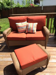 Charlottetown Brown All Weather Wicker 4 Piece Patio Seating Set With Rust  Cushions CHARSET B/R At The Home Depot | My Garden Paradise | Pinterest |  Home, ...
