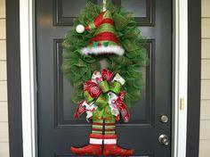 Christmas Elf Wreath by CindysSilks on Etsy, $76.00