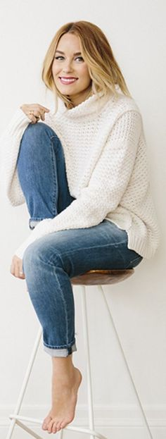 Chunky knit turtlenecks sweater and rolled denim #fall #styleblogger #fallstyle
