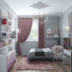 46 best teen bedroom ideas for girl and boys 2019 21 Small Apartment Bedrooms, Small Apartment Design, Small Teen Bedrooms, Teenage Bedrooms, Girl Bedroom Designs, Girls Bedroom, Master Bedroom Makeover, Home Decor Bedroom, Bedroom Ideas
