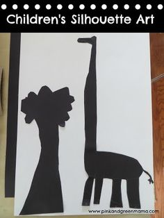 Pink and Green Mama: Making Silhouette Art With Children - love this for a homeschool theme or unit study about shadows and or negative space(reverse the colored paper you cut)