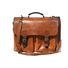 vintage tan leather His or Hers bag