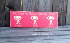 Hand Painted Grandparent Grand Children Sign. by Kateslittleshop