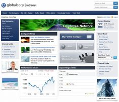 Intranet DASHBOARD : Intranet Design Portfolio - Intranet Software, Intranet Management Solution & System, Enterprise Portal, Web Applications, Tools