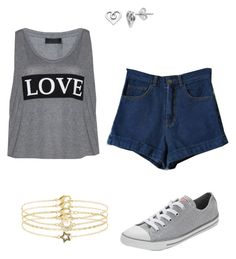 """""""Is"""" by aniyahg ❤ liked on Polyvore featuring Carmakoma, Converse, Accessorize and Itsy Bitsy"""