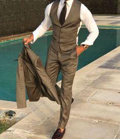 Dark Khaki Suit