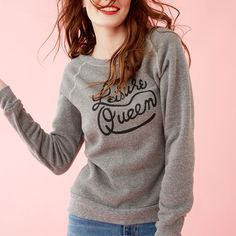 throw this soft hug of a sweatshirt on after a night out… or when you decide it sounds way better to stay in. #havefuninthis