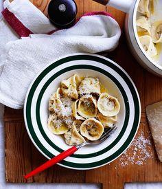 Australian Gourmet Traveller classic dish recipe for tortellini Bolognese.