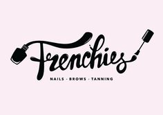 Frenchies Nail Salon Branding - Meagan Mills Portfolio - The Loop Nail Salon Design, Nail Salon Decor, Beauty Salon Logo, Beauty Bar, Schönheitssalon Logo, Nail Salon Names, Nails Bar, Nail Logo, Branding Design