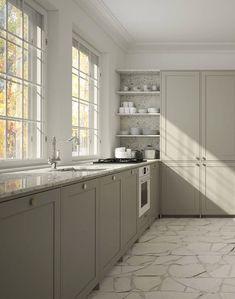 Romantic Home Decor .Romantic Home Decor Kitchen Interior, Interior Design Living Room, Living Room Decor, Kitchen Decor, Big Kitchen, Interior Livingroom, Green Kitchen, Vintage Kitchen, Dining Room