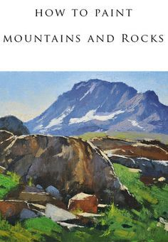 How to Paint Mountains and #Rocks by Gabor #Svagrik I will show you how