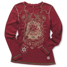 double d ranch long sleeved t-shirt- great with a pair of jeans or cords!