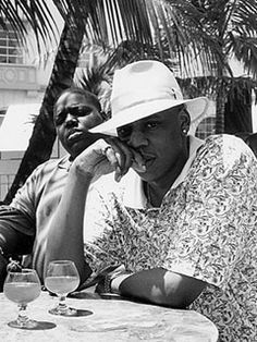 Christopher Wallace  Sean Carter aka Biggie Smalls  Jay-Z......Maybe the 2 greatest hip hop artists ever