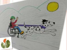 Paula, una niña de 10 años, nos manda este dibujo de respeto e ilusión. No hay discapacidad que impida ser feliz :) #discapacidad #discapacitados #niños   #dibujos #cosasdeniños #colegio   #diadeladiscapacidad #pharmadus #infusiones #helpskids #infusionesinfantiles #pinturasdeniños
