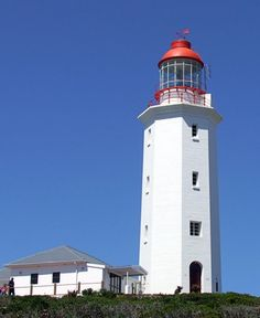 Danger Point Lighthouse, South Africa . .  the location of terrible wreck of the Birkenhead ship . . .  heartbreaking story of bravery