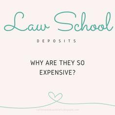 Law School Deposits **UPDATED** | Caffeine and Case Briefs