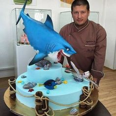 Amazing cakes of Renat Agzamov. Crazy Cakes, Fancy Cakes, Cute Cakes, Unique Cakes, Creative Cakes, Nemo Cake, Realistic Cakes, Gravity Cake, Shark Cake