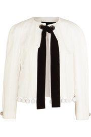 Proenza SchoulerPompom-embellished crepe, matelassé and cloqué jacket