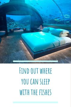 Find out where you can sleep with the fishes! Maldives resort set to open an underwater bungalow. Maldives Beach, Visit Maldives, Maldives Resort, Maldives Travel, Maldives Destinations, Sleep With The Fishes, Underwater Restaurant, Overwater Bungalows, Beach Quotes