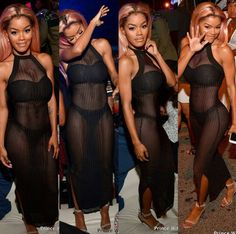 Teyana Taylor puts her body is display in sheer outfit