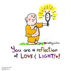 You are a reflection of love & light. Buddha Doodles #achieveinnerpeace…