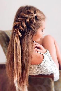 With this pull through braid hair tutorial you will add something new to your look. Moreover, you can make it sleek or big.