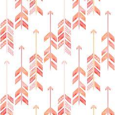 arrow herringbone fabric/wallpaper by emilysanford on Spoonflower - custom fabric