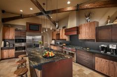 Rustic Open Kitchen Design