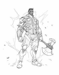 Drawing cartoon characters, character drawing, character design, avengers a Drawing Cartoon Characters, Character Drawing, Marvel Characters, Comic Character, Cartoon Drawings, Character Design, Thor Drawing, Comic Drawing, Comic Books Art