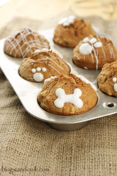 DIY Apple Crunch Pupcakes! A simple dog treat recipe by @Melissa Henson CandiQuik....... plus free printables if you're gonna sale or give the treats away!