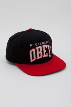 5bd8de7c7ac OBEY   BLACK   RED   THROWBACK   SNAPBACK