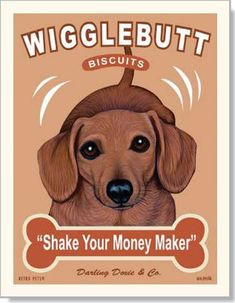 Wigglebutt Biscuits retropets.com | Animal Art with an Attitude