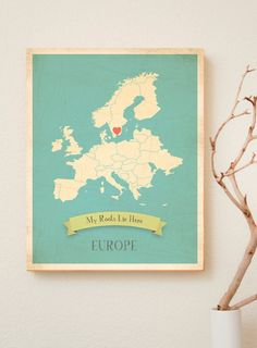 Choose Your Continent Personalized Vintage door KindredSolCollective, $28.00