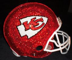 Football Helmet blinged out with Rhinestones