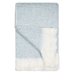 """Harmony"" Soft Blue & White Throw - TK Maxx"