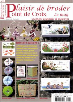 Plaisir de broder Point de Croix N°21 - Mai/Juin 2012