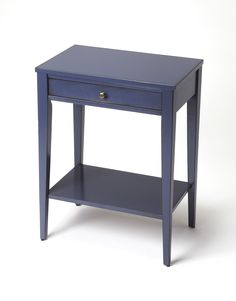Cobble Hill Navy Blue Console Table by Butler Specialty Company 2251291