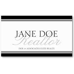 Realtor Silver Script Business Card Template