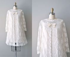 60s lace dress / 1960s wedding dress  / Ethereal Being. $225.00, via Etsy.