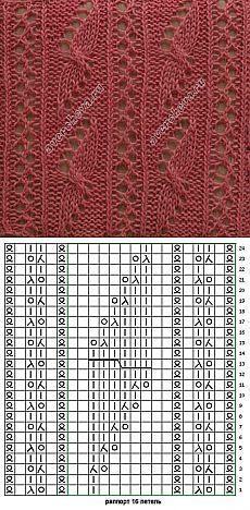 motivo traforato di 161 bande con archi |  modelli di lavoro a maglia Catalogo